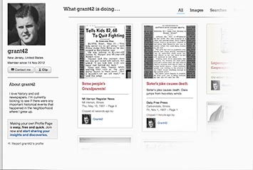 Profile page on Indianapolis Star Archive